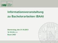 Allgemeine Informationen/Organisatorisches - LMU