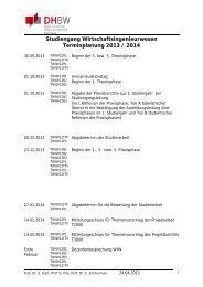 Studiengang Wirtschaftsingenieurwesen ... - DHBW Karlsruhe