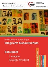 Schulpost 1.Ausgabe Schuljahr 2013/2014 - AWO Rudolstadt