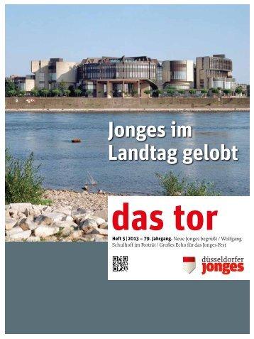 Das TOR 05-2013 - Heimatverein Düsseldorfer Jonges