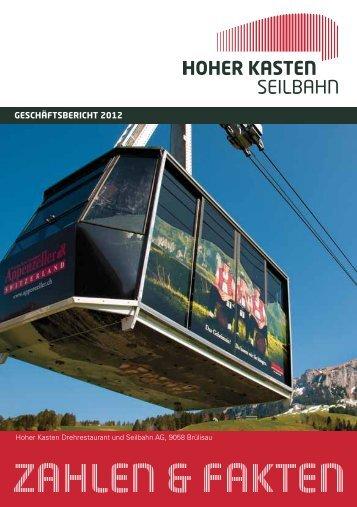 GESCHÄFTSBERICHT 2012 - Hoher Kasten