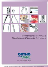 Task Orthodontic Instruments Miscellaneous ... - Hu-Fa Dental