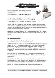 Schüßler'sche Biochemie Gutes für den Bewegungsapparat ...