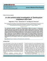In vitro antimicrobial investigation of Zanthoxylum chalybeum stem ...