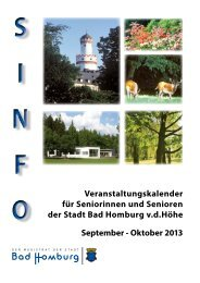 Veranstaltungskalender Sinfo September/Oktober ... - Bad Homburg