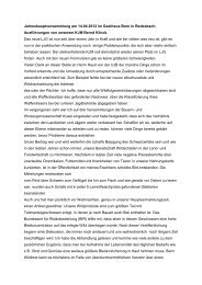 Bericht KJM (Ausführungen Jahreshauptversammlung 2012)
