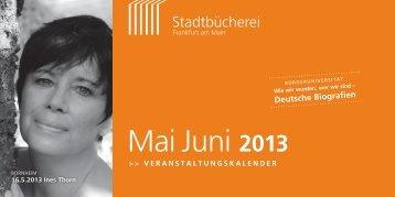 Mai Juni 2013 - Frankfurt am Main