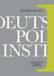 Jahresbericht 2012 - Deutsches Polen-Institut