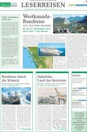 LESERREISEN - Bergedorfer Zeitung