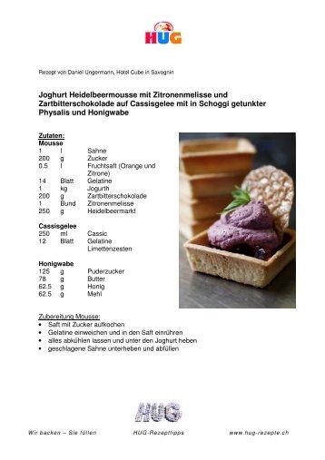 HUG Dessert-Tartelettes Carré 7 cm - Heidelbeermousse