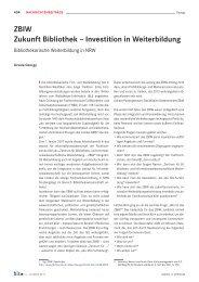 ZBIW Zukunft Bibliothek – Investition in Weiterbildung - B.I.T.