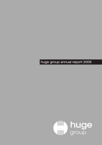 huge group annual report 2009