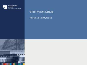 Modul 1 - Staatsbibliothek zu Berlin