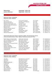 Referenzliste - Hugentobler Schweizer Kochsysteme AG
