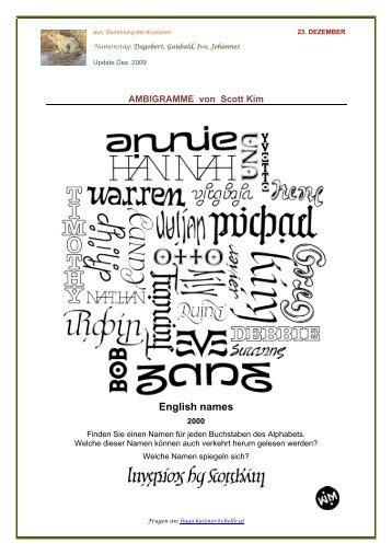 Ambigramme - Hugo Kastner