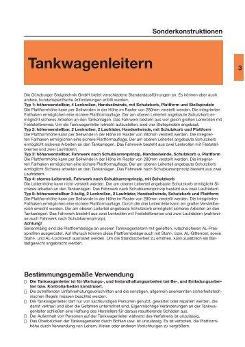 Tankwagenleitern - bei Hugo Knödler Leitern und Gerüstvertrieb ...