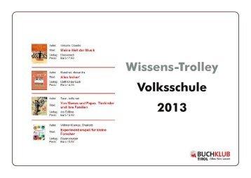 Wissens-Trolley 2013 für die Volksschule