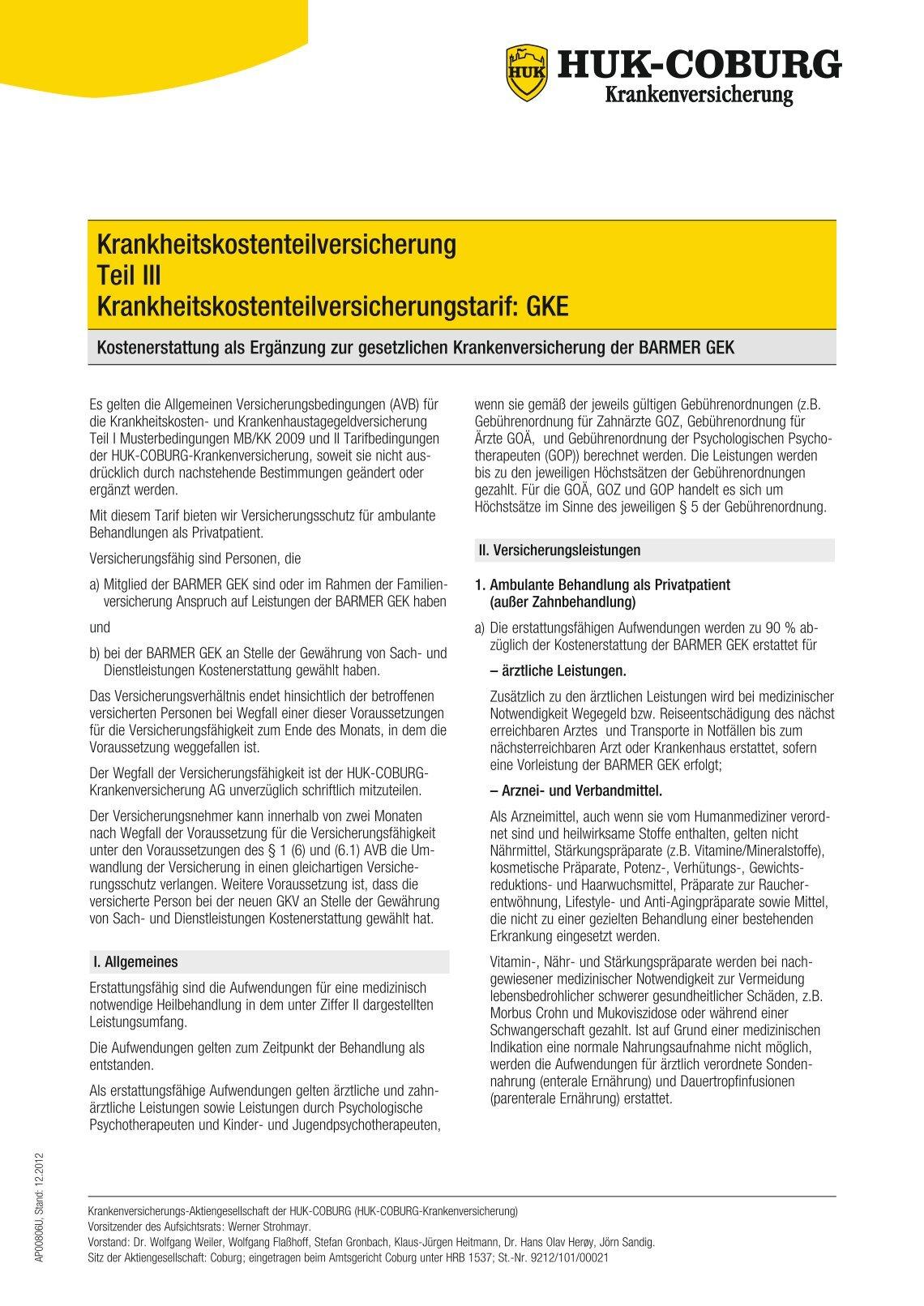 Private Haftpflichtversicherung | HUK-COBURG