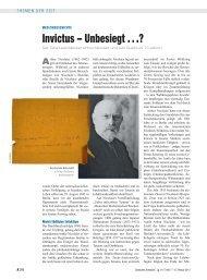 Invictus – Unbesiegt . . .? - Deutsches Ärzteblatt