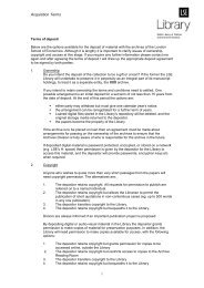LSE draft aquisition policy - Hull History Centre