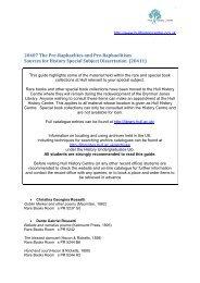 20407 The Pre-Raphaelites and Pre-Raphaelitism - Hull History ...