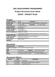 Project Plan - welcome - University of Hull
