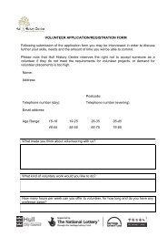VOLUNTEER APPLICATION/REGISTRATION FORM Following ...