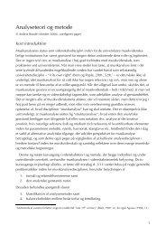 Analyseteori og metode - Aalborg Universitet