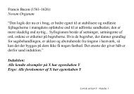 """Francis Bacon (1561-1626): Novum Organum """"Den logik der nu er i ..."""