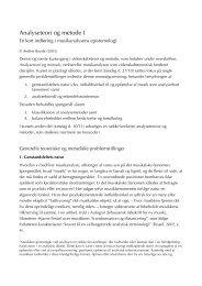 Analyseteori og metode I