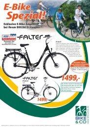 Exklusive E-Bike-Angebote bei Ihrem BIKE&CO-Händler