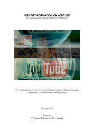 Identity formation on YouTube - Investigating audiovisual ...