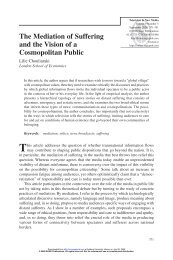 The Mediation of Suffering and the Vision of a Cosmopolitan Public