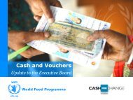 Cash and Vouchers - WFP Remote Access Secure Services