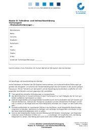 und Vollmachtserklärung Tiertransport - QS Qualität und Sicherheit ...
