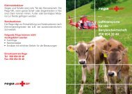 Merkblatt: Lufttransporte für die Berglandwirtschaft - Rega