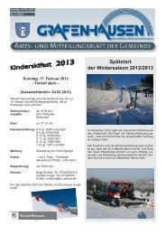 Kinderskifest - Gemeinde Grafenhausen