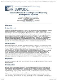 Social software: E-learning beyond learning management systems
