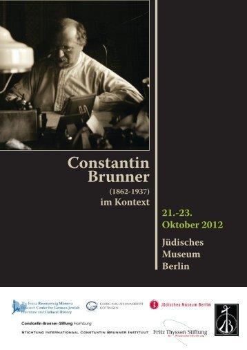 Brunner-Tagung in Berlin - Constantin Brunner