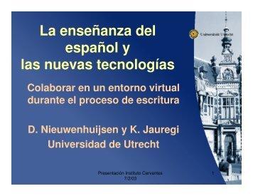 La enseñanza del español y las nuevas tecnologías