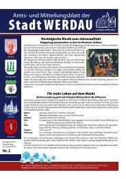 Nostalgische Musik zum Jahresauftakt Für mehr ... - Stadt Werdau