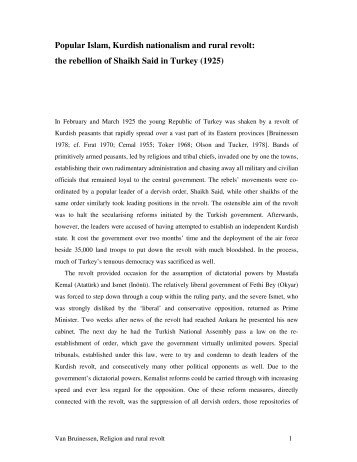essays on the origins of kurdish nationalism