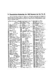 B. Übersichtliche Reihenfolge der 1500 Nummern des Cäc.-Ver.-K.