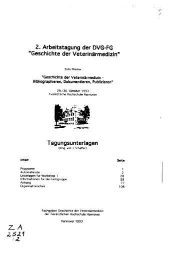 2521_93.pdf - TiHo Bibliothek elib - Tierärztliche Hochschule ...