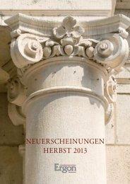NEUERSCHEINUNGEN HERBST 2013 - Ergon Verlag