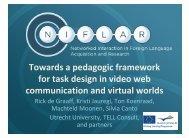 Towards a pedagogic framework for task design in video web ...