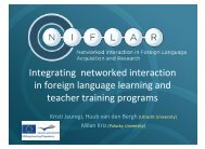 Integrating networked interaction in foreign language learning and ...