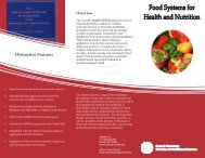 Food Systems for Health - College of Human Ecology