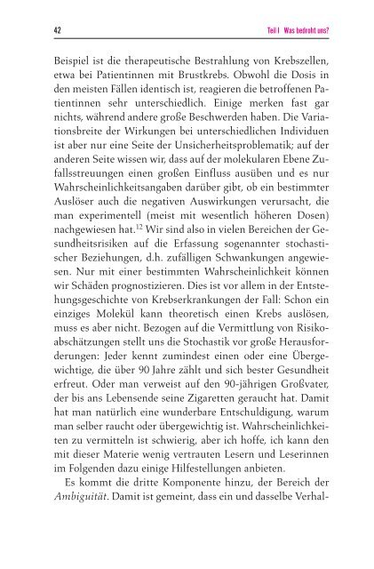 Unverkäufliche Leseprobe aus: Renn, Ortwin Das Risikoparadox ...