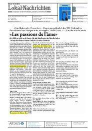 «Les passions de l'äme» - Hochschule der Künste Bern